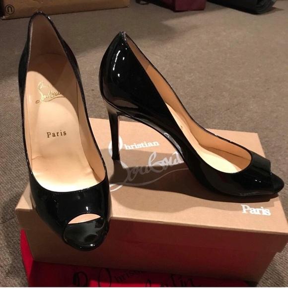 8bf816ef1701 Christian Louboutin Shoes - Christian Louboutin You You Patent Black Peep  Toe